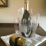 Prosecco in our Knightwood room