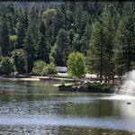 Fountains at Lake Gregory