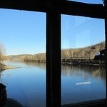 A beautiful view of the White River from the restaurant.