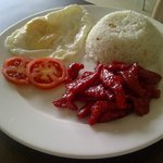 my son's breakfast - tocino
