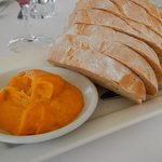 Bread with Pumpkin and coconut dip