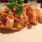 spicy lobster tacos