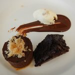 Chocolate Marquise with candied ginger