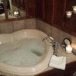 In room heart shaped whirlpool tub