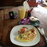 Banana Pancake, Monkey Forest Juice & Cappuccino ;)