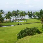 golf course and wedding venue below hotel
