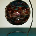 With the help and guidance of the glass blower I created this. Love it!