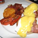 Eggs Benedict for Breakfast ($20) from Room Service - Very nice
