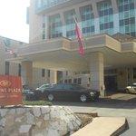 Vista de la entrada del Hotel!