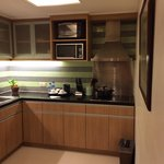 Fully equipped kitchen with all basic kitchenware (inside the cupboard...)