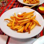 Fries, a Peruvian specialty. These aren't your fast food fries!