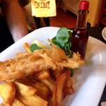 Seems simple but this fish and chips was superb.  Perfect batter on the fish, the best chips I'v