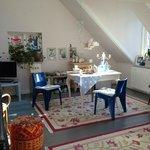 La living room dell'appartamento
