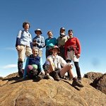 On top of Mt Ossa with Cradle Mountain Huts group
