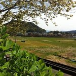 view from a small temple near Hotoyoshi. A few weeks later these rice paddies will be planted
