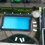 Aquarius: View of the Pool Area from Room 1111.