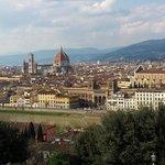 Florence vue des hauteurs de la ville à 1h de Montaione