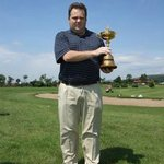 Matthew Wotton Golf Professional at Lakeside Port Talbot with the Ryder Cup.