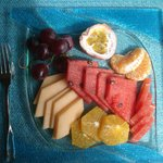 dessert différents fruits