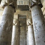 Beautiful columns at Dandara