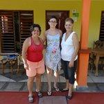 Yuneyka (à gauche) et Berta (à droite), nos hôtes formidables