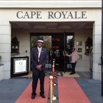 James the doorman - who greets you when you arrive Cape Royale