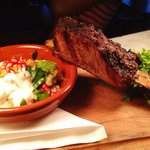 Tender barbecued beef rib