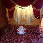 gipsy waggon sleeping area