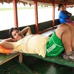Quick nap between Libertad and Nauta (courtesy Connie Tsang)