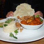 Monkfish & prawn curry