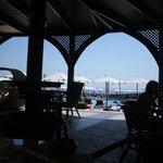 widok z baru przy basenie