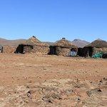 Three little huts