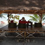 petit kiosque au bord de la plage