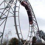 Revolution - forwards and backwards looping coaster!