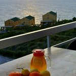 View from balcony, juice made with fresh fruit from the gardens