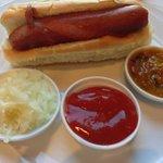 Wagu beef hot dog
