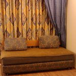 Sofa and curtains