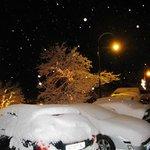 Snow and nightfall