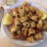 La frittura calamari e gamberi!!!
