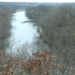 Joplin MO Looking Down at Shoal Creek From Inspiration Point
