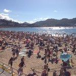 summer crowds during grande semana