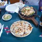 Shrimp quesadilla, with freshly made pico degallo salsa!!
