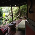 Honeymoon Suite private porch overlooking jungle & stream