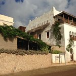 View of Lamu House Hotel from dhow