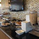 the lounge breakfast buffet.