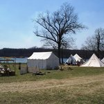 encampment on the lake