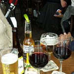 Good beer, wine & cider selections