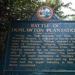 Battle of Dunlawton Plantation Sign