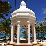 The beautiful gazebo at Riu Palace Punta Cana