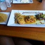 Flamboyan Trio. Steak, camarones y pechuga.. Exquisito!!